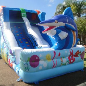 underwater themed inflatable bounce house
