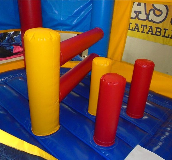 play inside justice league jumping castle